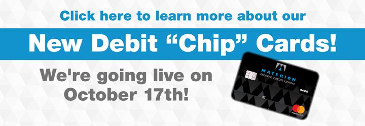 Banner for Chip Debit Card
